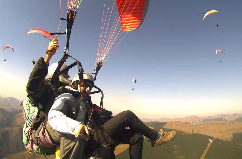 Paragliding in Bir Billing, Himalayas