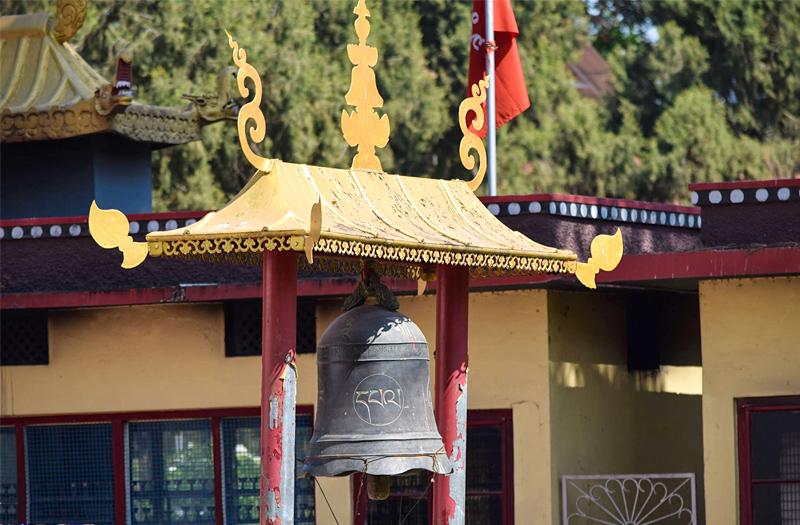 Namdroling Monastery -Prayer wheels