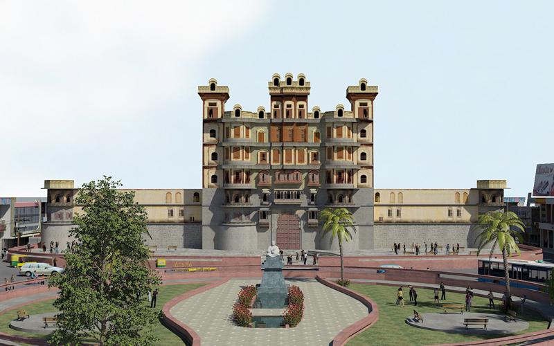 rajwada palace indore india