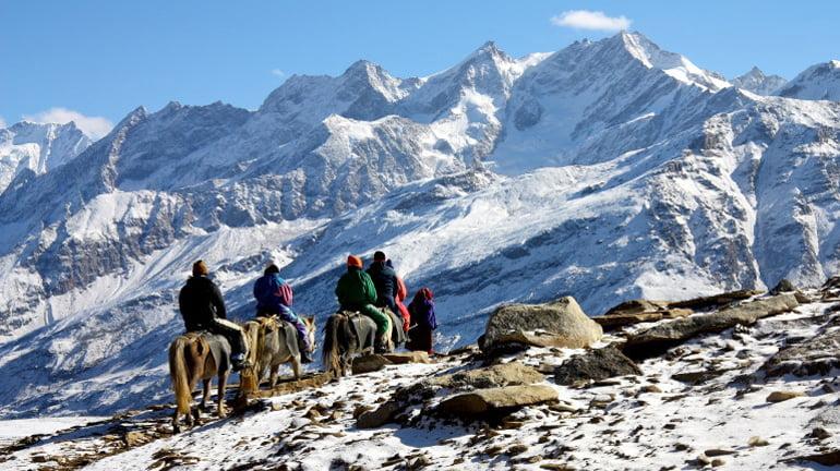Manali snow point